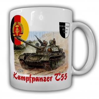 Tasse Lukas Wirp NVA Kampfpanzer Gemälde T55 7 PzDiv DDR Militärbezirk #26056