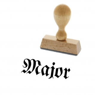 Major Einheit Wh Wk Offizier Stempelungen Stempel Holzstempel #15018