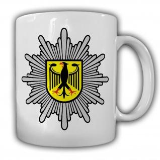 BPOL Bundes Polizei Abzeichen Stern Adler Deutschland Grenzschutz Tasse #20106
