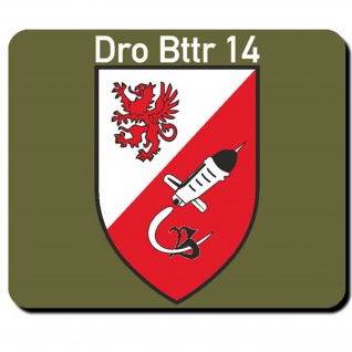DrBttr14 Drohnen Militär Bataillon Wappen Abzeichen Batterie- Mauspad #2756m
