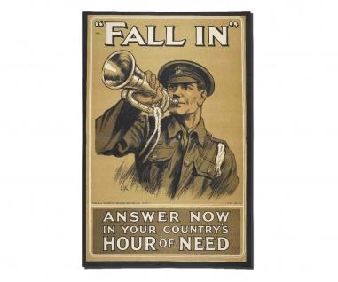 Poster Antreten Militär BW Rekruten Fineart London Britannien ab30x20cm #30404