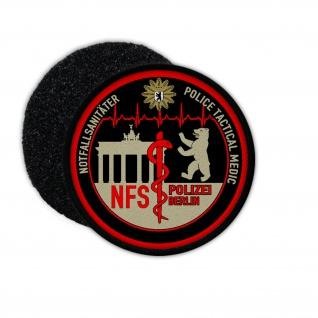 Patch Notfallsanitäter Polizei Berlin Klett Uniform Abzeichen NFS #31020