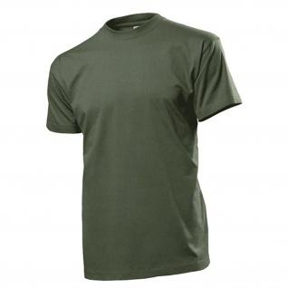 T-Shirt oliv Herren Rundhals 100% Baumwolle Ringspinn Single-Jersey #12817