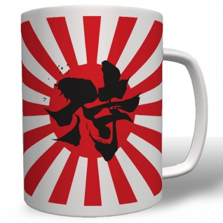 Samurai Krieger Japan Flagge Fahne Sonne Kung-Fu Karate Tasse #16544