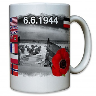 D-DAY 6.6.1944 Operation Overlord Into the Jaws of Death Omaha - Tasse #12473