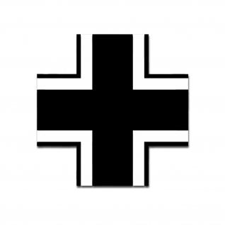 Balkenkreuz WH Kreuz Aufkleber Emblem Fahrzeug Kennung Nationen 25x25cm #A5030