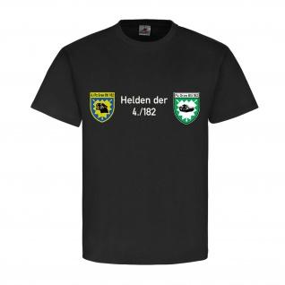 Helden der 4-182 PzGrenBt Panzergrenadierbataillon Bundeswehr - T Shirt #14890