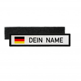 Namenspatch BW Deutschland Weiss Name Patch Aufnäher Germany #32424