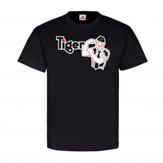 TIGER Panzer Wh Tiger Panzer Fibel Comic Front Deutschland Wk - T Shirt #7743