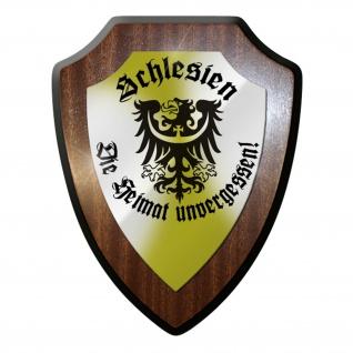 Wappenschild Wandschild Wappen - Schlesien unvergessen Abzeichen Adler #9293
