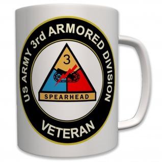 US Army 3rd Armored Division Veteran Panzer Militär - Tasse #6242