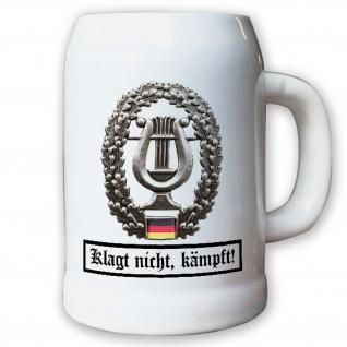 Krug / Bierkrug 0, 5l - Barettabezeichen Heeresmusikkorps BW Bundeswehr #10917