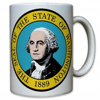 Seal of Washington Amerika USA United States DC 1889 Emblem - Tasse #10490 T