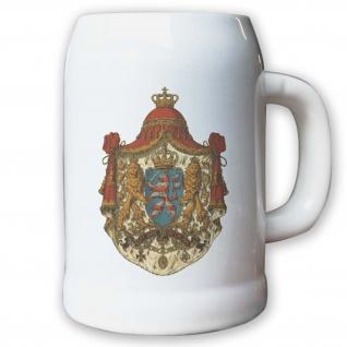 Krug / Bierkrug 0, 5l - Großherzogtum Hessen Adel Weimarer Wappen Abzeichen #9437