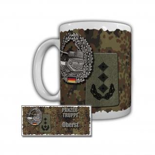 Tasse Panzertruppe Oberst PzBtl 110 Hemer Rangabzeichen Bundeswehr #29917
