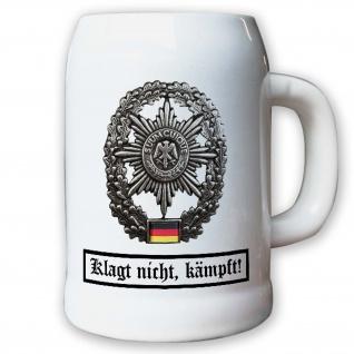 Krug Bierkrug 0, 5l Barettabezeichen Feldjäger Militärpolizei Suum Cuique #11814