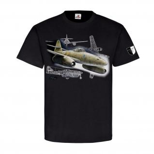 Lukas Wirp Me 262 Walter Schuck Düsenjet Luftwaffe Flugzeug T Shirt #23641