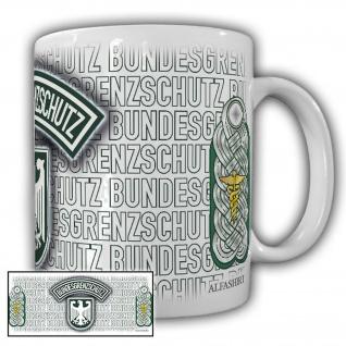 Tasse Regierungsamtmann BGS Bundesgrenzschutz Wappen Abzeichen Andenken #23736