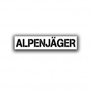 Alpenjäger Auto Aufkleber Bayern Alpen Berge Bergrennen Tuning 20x4cm #A4569