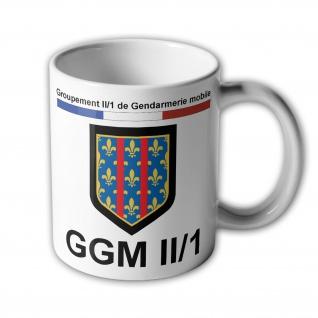 Tassen GGM II-1 Groupement de Gendarmerie mobile Frankreich Polizei #33917