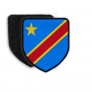 Patch Flagge von Congo Flagge Wappen Fahne Aufnäher Landesfahne Land Staat #21449