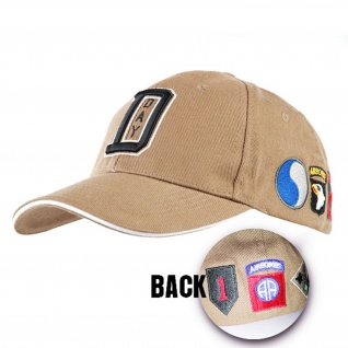 D-Day BASEBALL CAP WW II US Army Normandie Frankreich USA Amerika Zweiter #17211