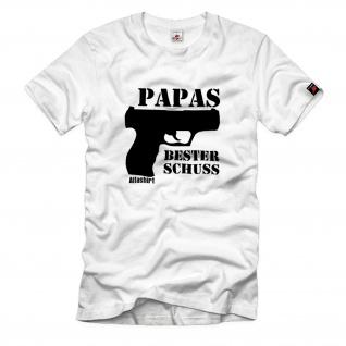 Gr.3XL - Papas bester Schuss T-Shirt #R458