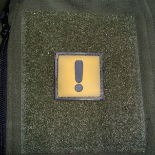 Tactical Achtung Ausrufezeichen Gefahr Einsatz 3D Rubber Patch 4x4cm #16274