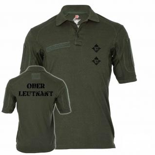 Tactical Poloshirt Alfa - Oberleutnant Dienstgrad BW Abzeichen Offizier #19117