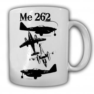 Me 262 Stahltriebwerk Flugzeug Düsenjäger Luftwaffe Militär - Tasse #13232