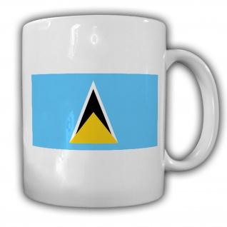 Tasse St. Lucia Fahne Flagge Castries Kaffee Becher #13917
