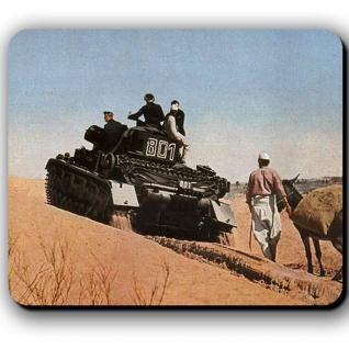 Dak Panzer in der Wüste Wh Einheit Militär Panzerkampfwagen 4 - Mauspad #13795