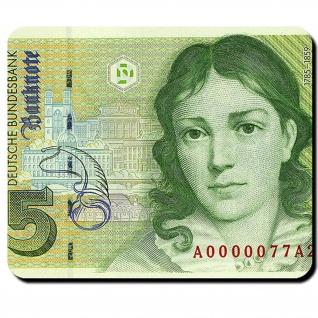 5 Mark Deutsche Mark Schein Währung Bettina von Arnim Achim Note Mauspad #16343