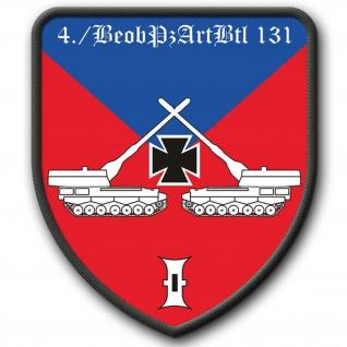 Patch 4 BeobPzArtBtl 131 Beobachtungspanzerartilleriebataillon Emblem BW #3784