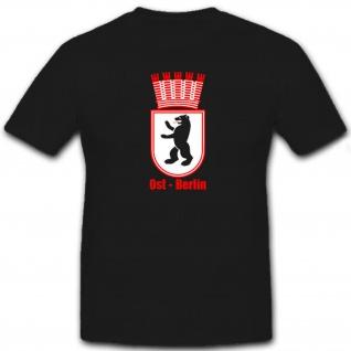 Ost Berlin Hauptstadt Deutschland Bär Stadtwappen Wappen - T Shirt #12212