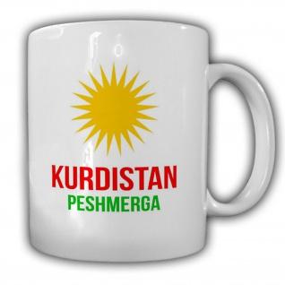 Kurdistan Peshmerga Kurden Wappen Abzeichen Freiheitskämpfer - Tasse #14714