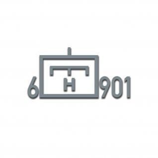 Taktisches Zeichen 6 Schweres PiBtl 901 Pionierbataillon 901 30x15cm#A5152
