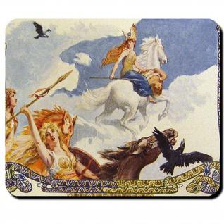 Walküren Geistwesen Odin Nornen Flygien Disen Schildjungfer Mauspad #16122