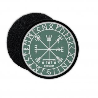 Patch Vegvisir Wikinger Kompass Bedeutung Symbol ob Sturm ob Wind #32310