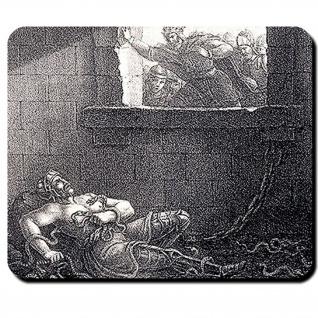 Ragnar Lodbrok Ragnarr Legende Wikinger König Dänemark Lindwurm Mauspad #16116