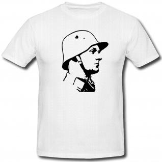 deutscher Soldat Bundeswehr Bw Militär WK 1 WK 2 Stahlhelm M16 - T Shirt #1388