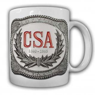 CSA Tasse1860-1865_Vorderlader Kaffeebecher Amerika Western Revolfer USA #22581