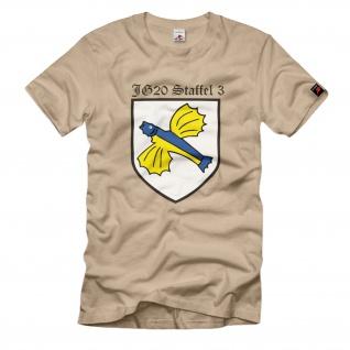 3./JG3 3.Staffel Jagdgeschwader 3 Luftwaffe WK2 Wh Wappen Emblem - T Shirt #1705