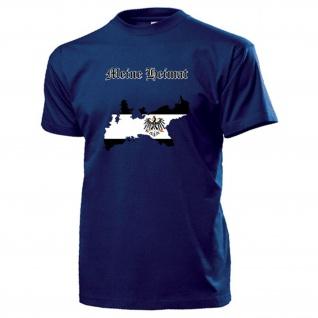 Meine Heimat Preußen Preußenadler Landkarte Wappen Deutschland - T Shirt #13162