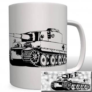 Tiger Panzer - Tasse Becher Kaffe #1944t