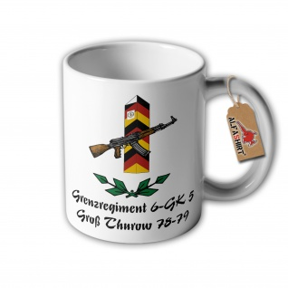 Tasse Grenzregiment 6 GK5 Thurow DDR NVA Grenzschutztruppen Andenken #32816