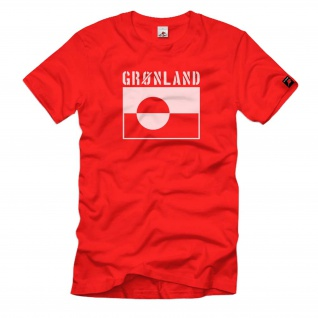 Kalaallit Nunaat Grönland Fahne Flagge Wappen Abzeichen - T Shirt #475