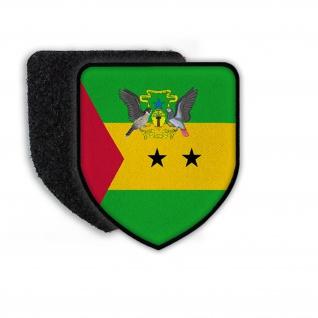 Patch Landeswappenpatch Sao Tome Wappen Wappentier Tauben Flagge Fahne #21964