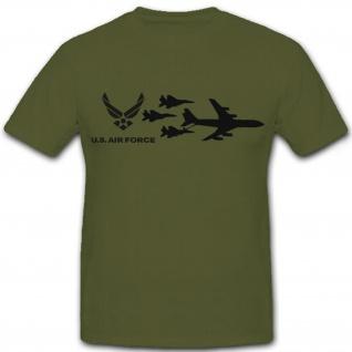 US Air Force USA Amerika Flugzeug Jet Bomber Kampfflugzeug - T Shirt #7281