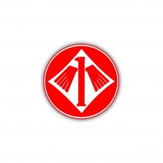 Aufkleber/Sticker JG 1 Oesau Jagdgeschwader Abzeichen Wappen 7cm A795
